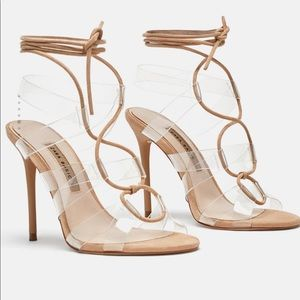 Zara basic strappy heels